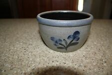 "ROWE POTTERY WORKS BOWL with FLOWERS 5 1/4"" dia. x 4"" tall 1999 STAMPED"