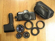 PENTAX AUTO 110 film camera set w/ 18mm 2.8 , 24mm 2.8 , 50mm 2.8 lens + winder