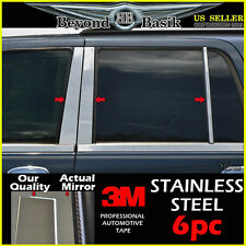 2003-2006 FORD EXPEDITION 6PC STAINLESS STEEL Chrome Pillar Post Trim Overlay