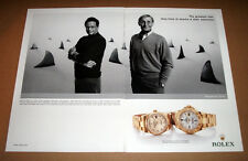 ROLEX DAY DATE & YACHT MASTER - 2004 ORIGINAL ADVERT POSTER 11 x 14 in