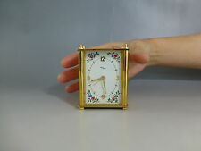 EXC. Vintage Swiss Imhof Reuge Music Alarm Clock Gold Plated Case (Watch Video)