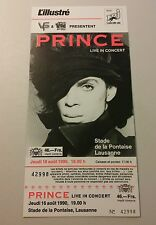 PRINCE Beautiful concert ticket 1990 tour switzerland VERY RARE HARD TO FIND
