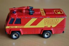 Matchbox Lesney Superfast No 54 Metro Airport Command Vehicle Foam Fire Truck