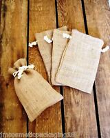 Natural Jute Hessian Drawstring Gift Bags Coffee Sack Small Pouch (Code #23)