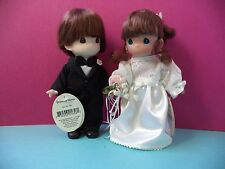 "7"" PRECIOUS MOMENTS BRUNETTE BRIDE AND GROOM"