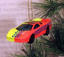 JAGUAR XJ220 YELLOW ORANGE SPORTS CAR CHRISTMAS ORNAMENT XMAS