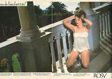 Publicité Advertising 1984  ( Double page )  Lingerie ROSY nuisette