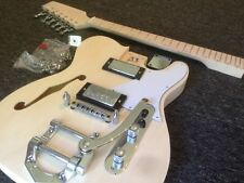 DIY Guitar Kit - Guitar Kit – Slimline Tele (F-Hole) Hollowbody Bigsby