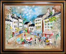 Charles Cobelle Original Painting Oil on Canvas Signed Paris Cityscape Artwork