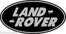 Classic British Motoring Land Rover Oval Green & Silver Decal Vinyl Stickers x 2