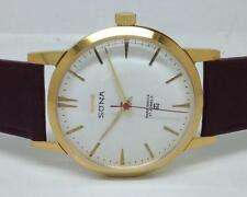 vintage hmt sona gold plated hand winding men's super slim india watch run -in74