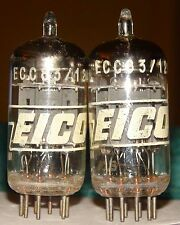 Very Strong & Balanced Matched Pair Eico Amperex Ecc83 12ax7 Vacuum Tubes