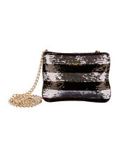 Kate Spade NIGHT SKY crossbody BLACK SILVER SEQUINS evening clutch BAG cocktail