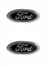 2XNEW 3D Black FORD F-150/Expedition OVAL EMBLEM FRONT GRILLE Tailgate 9''Badges