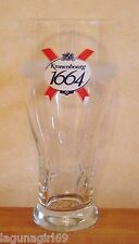 Kronenbourg 1664 Lager Beer Pint Glass Embossed Pub Home Bar Unused M12
