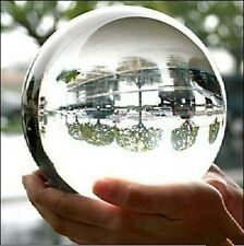 100mm Crystal Glass Clear Ball FengShui Home Office Deco Gift + Free Clear Base