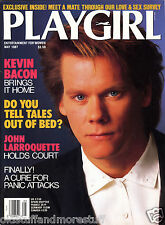 PLAYGIRL 5-87 KEVIN BACON LARROQUETTE WM WOOD CHEERS MAY 1987