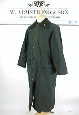 Men's BARBOUR BURGHLEY Navy Blue WAXED COTTON Long Riding Farmer Outdoor Coat 40