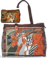 Laurel Burch Horse Moroccan Mares Lg TRAVEL Tote Beach Tack Sport & Makeup Bag