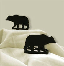 Black Wrought Iron Bear Tie Backs CUR-TB-14 New