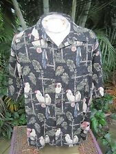 HAWAIIAN Aloha SHIRT 2XL pit to pit 26 CLEARWATER OUTFITTERS tropical birds