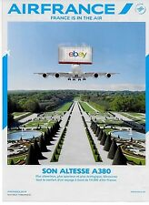 """AIR FRANCE """"FRANCE IS IN THE AIR"""" AIRBUS A380 OVER GARDENS SON ALTESSE AD"""