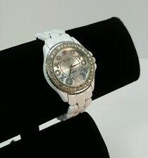 XOXO Women's XO5205 WHITE bling rhinestone Face, Metal Band Watch, UNTESTED used