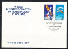 Germany DDR 1968 FDC cover Mi 1391-1392 Sc 1030-1031 Sport planes