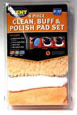 8 PC CLEAN,BUFF & POLISH PAD SET FITS 9-10 INCH (225-255MM) MACHINES