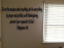 Philippians 4:6 Bible Verse Christian God Prayer Vinyl Wall Decal Quote Sticker