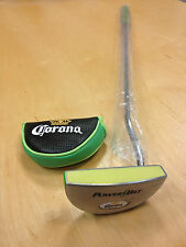 Corona Extra Powerbilt Golf Putter - Lime Green w/ Cover Regulation Size ~ NEW