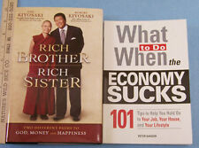 What To Do When The Economy Sucks  & Rich Brother Rich Sister Lot of 2 Books