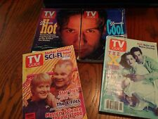 1995-96 Scifi / X-files TV guide lot of 4