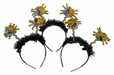 Halloween 3 X Head Band, Banda De Pelo Deeley Boppers Arañas oropel Fancy Dress