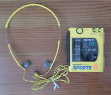 Vintage Sony Walkman Sports AM-FM radio cassette player  w headphones WM F63 F73