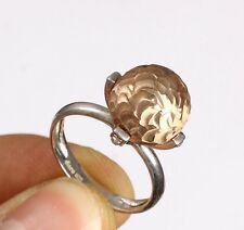 CIRCLE HANDMADE TOPAZ .925 STERLING SILVER RING SIZE 7.5 #65373