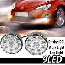 2pcs White 9 LED Daytime Running Light Car Fog Driving Lamp Daylight Universal