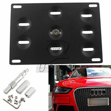 Front Bumper Tow Hook License Plate Mounting Bracket Holder For Audi A4 A5 S4