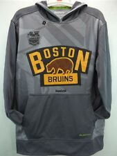 Boston Bruins Reebok NHL Grey Winter Classic 2016 PlayDry Hoodie Sweatshirt L