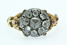 A Wonderful Georgian 1ct Rose Cut Diamond Cluster Ring Circa 1800's
