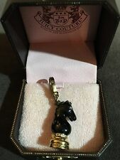 New JUICY COUTURE 2008 Knight Chess Piece Charm In Black Enamel RARE