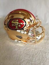 49ers custom GOLD CHROME riddell speed mini helmet