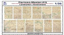 051, diorama accesorios mapas de Alemania, 1:35, gmkt World of War II