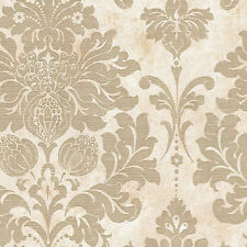 Gorgeous Large Gold Damask Wallpaper Double Roll Bolts FREE SHIPPING