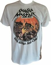 SAVAGE MASTER With Whips And Chains White-T-Shirt - XL / Extra-Large - 163567