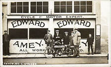 Leicester. Edward Amey, Motor Engineer, 7A Bedford Square by Stoney. Motorcycle.