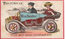 "1913 ROCHESTER MN ""This Town is the Best Place I Ever Ran Into"", old automobile"