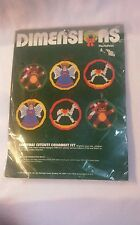 DIMENSIONS CHRISTMAS ORNAMENT KIT SET Of 6  NIP
