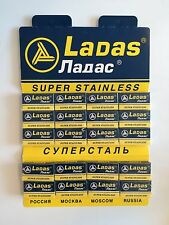 100 NEW Ladas Super Stainless Rapira double edge safety razor blades