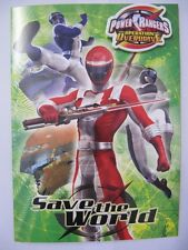 FANTASTIC COLOURFUL POWER RANGERS ACTIVITY BIRTHDAY GREETING CARD & BADGE